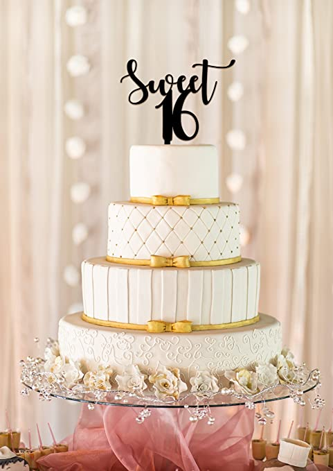 Amazon Sweet 16 Cake Topper 16th Birthday Cake Topper Sweet