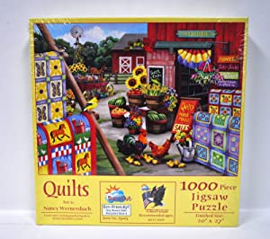 SunsOut Puzzles Quilts by Artist Nancy Wernerbach 1000 Piece Jigsaw Puzzle