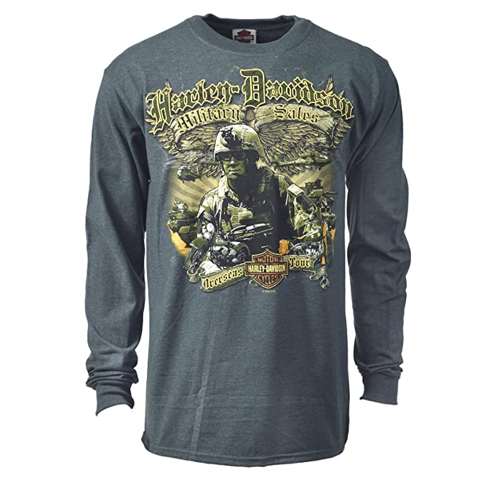 840f0192 Harley-Davidson Winged Patrol Long-Sleeve T-Shirt - Military Sales |  Overseas