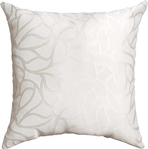 Softline Home Fashions 924BAR10018XPF Basra Throw Pillow, White