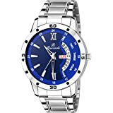 Buccachi Analogue Blue Round Day & Date Dial Watch for Men's (B-G5046-BL-CH)