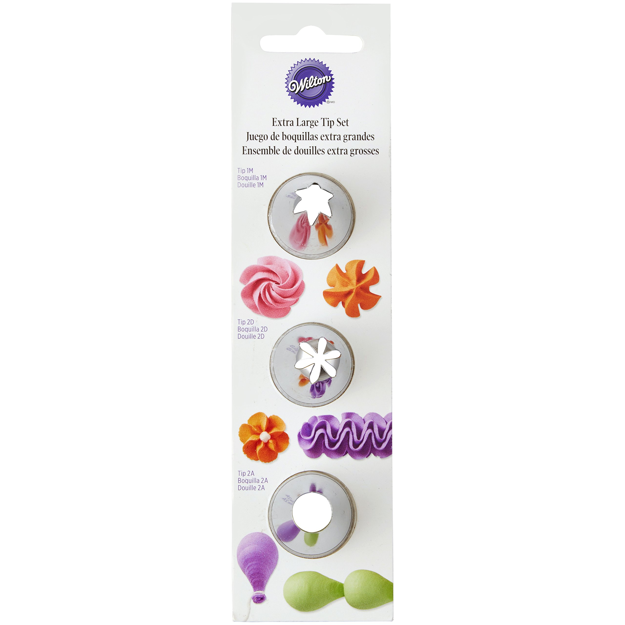 Wilton Icing/Piping Tip Set, XL, 3 pieces