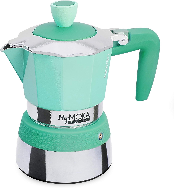 Pedrini Cafetera mymoka Induction, 3 tazas, Emerald: Amazon.es: Hogar