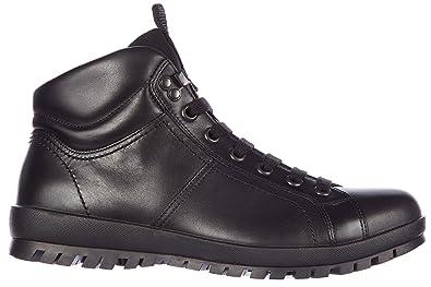 Leder Plume Schwarz Kalbsleder Eu Prada 44 Herren Stiefel Boots 54LRAj