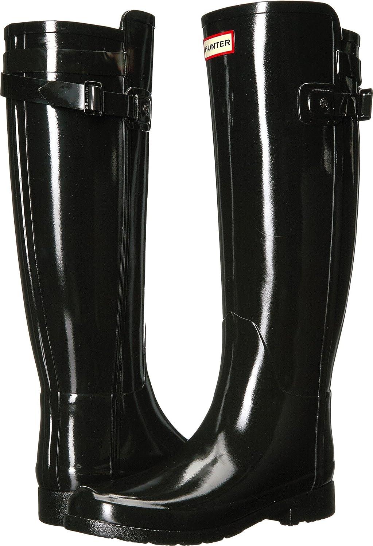 Hunter Womens Original Refined Back Strap Gloss B06ZYV44QH 6 B(M) US Black