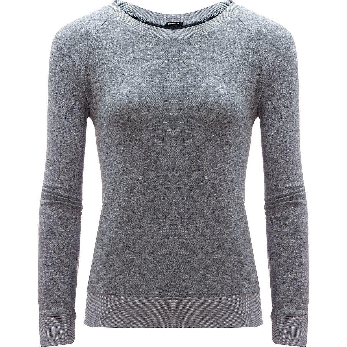 Monrow Sweatshirt With Lace Up Back - Women's Dark Heather, L