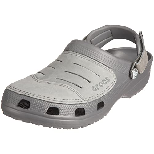0b00fbd44 crocs Men s Yukon Charcoal and Med Grey Leather Clogs and Mules - M13