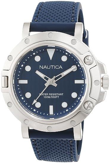 Nautica Reloj Analógico para Hombre de Cuarzo con Correa en Silicona 0656086081060: Amazon.es: Relojes