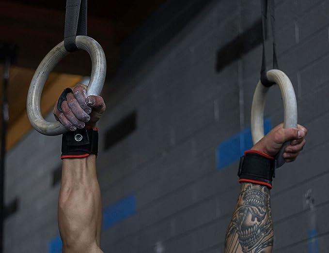 Giro agarre guantes de entrenamiento de Cruz y levantamiento de peso muñeca wraps-2 en 1 Pullup WOD mano Grips para gimnasia, entrenamientos pesa rusa, ...