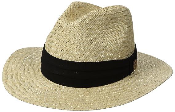 824636bd Tommy Bahama Men's Panama Safari Hat with 3 Pleat Cotton Band, Black, Small/