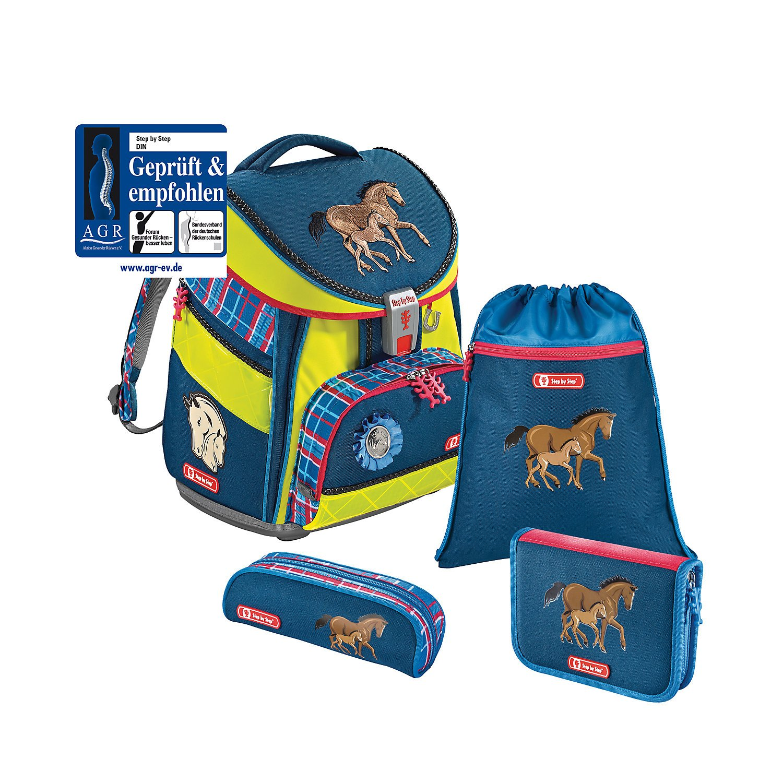 Step by Step Comfort DIN Schulranzen-Set 4-tlg Horse Family horse family din