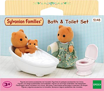 Sylvanian Families 5148 Bath Toy With Toilet Set Amazon De Spielzeug