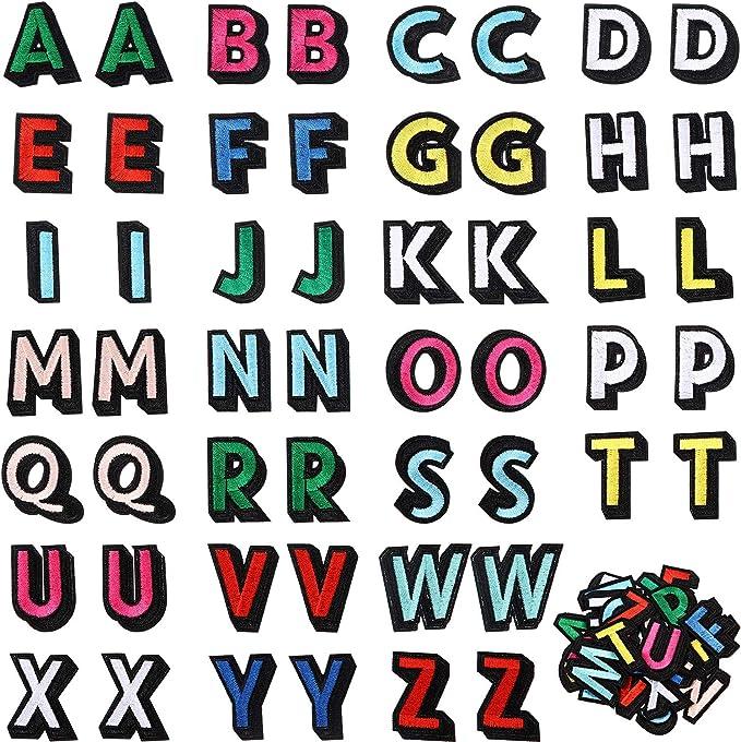 52 Parches de Letras Aplicados con Plancha, Parches de Alfabeto de ...