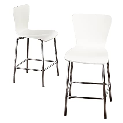 Amazoncom Target Marketing Systems 89024wht Pr Pisa Wood Bar Stool