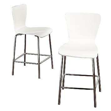 Sensational Target Marketing Systems 89024Wht Pr Pisa Wood Bar Stool 24 White Silver Creativecarmelina Interior Chair Design Creativecarmelinacom