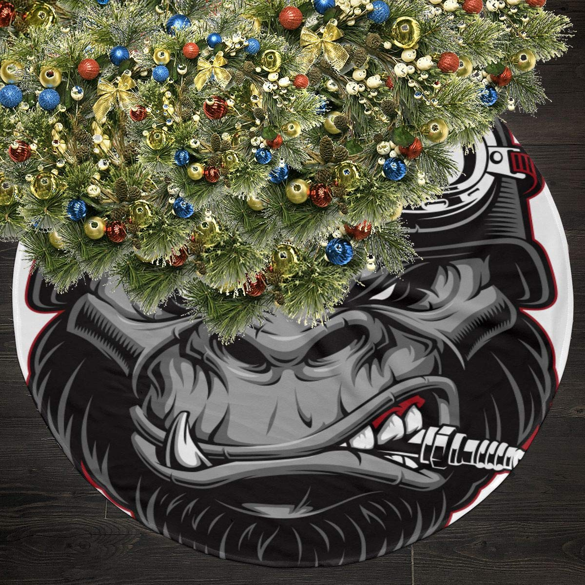 Amazon.com: FUNCOOLCY Fierce Angry Gorilla Christmas Tree ...