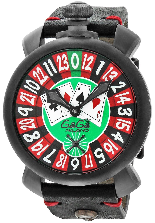 [ガガミラノ]GaGa MILANO 腕時計 MANUALE 48MM グリーン文字盤 手巻き 5012.LV01 BLK メンズ 【並行輸入品】 B016A0EQJY