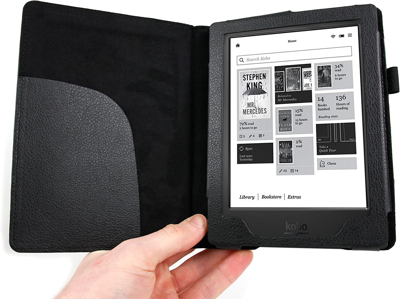 Edition 2 Mat/ériau de li/ège Marron /écrou Made in Germany Feutre de Laine Vert eBook Reader /Étui Stilbag eReader Housse Vigo pour Kobo Aura H2O