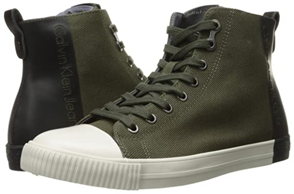 Calvin Klein Jeans Hombre Arnaud Twill/coating zapatos de gimnasia Verde Size: 40 7UrA2niQU1