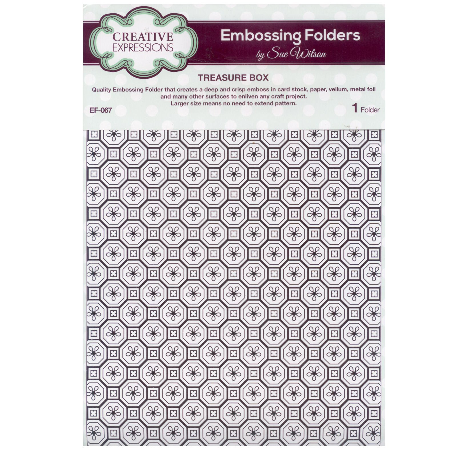 Sue Wilson EF-067 Embossing Folder - Treasure Box by Creative Expressions