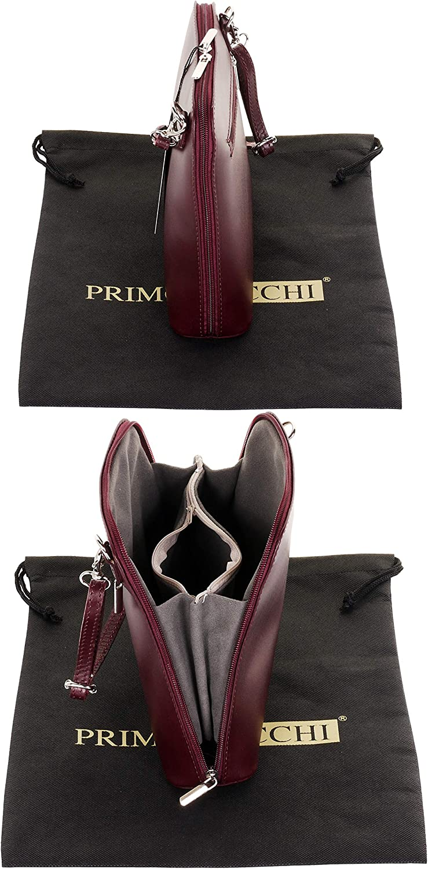 Primo Sacchi Italian Smooth Leather Small Cross Body or Shoulder Bag Handbag
