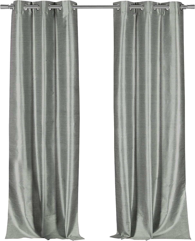 kensie Trim Faux Silk Alexandrite Diamond, 38x84, Silver