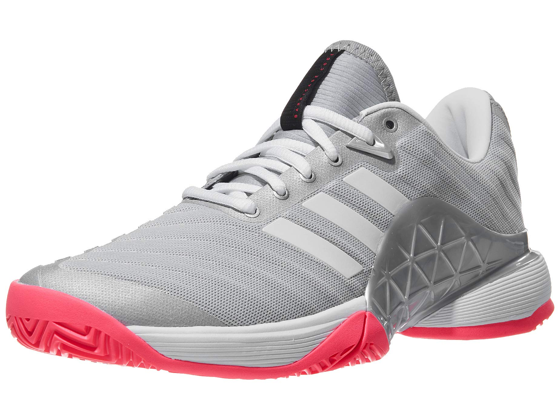 online store 7eee1 35e51 Galleon - Adidas Women s Barricade 2018 Tennis Shoe, Matte Silver White Flash  Red, 5.5 M US