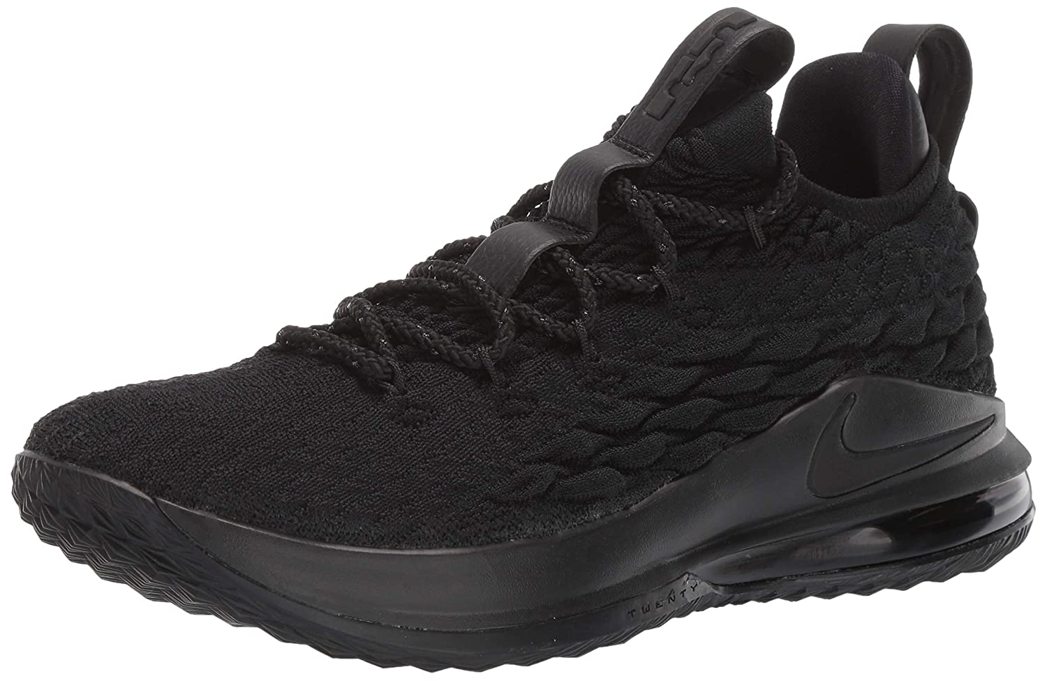 hot sale online b99f0 2087f Amazon.com | Nike Lebron 15 Low 'Triple Black' - AO1755-004 ...