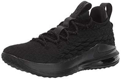 hot sale online 3f9d9 ce93d Amazon.com | Nike Lebron 15 Low 'Triple Black' - AO1755-004 ...