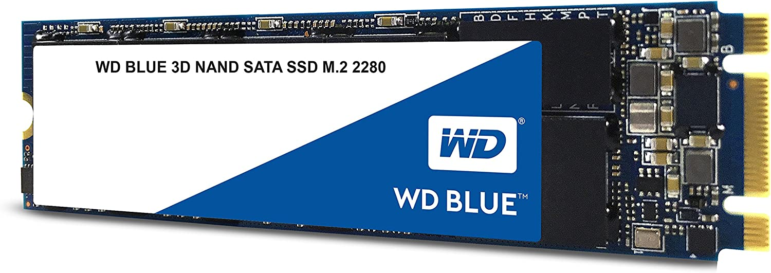 WDS500G2B0B M.2 2280 WD Blue 3D NAND 500GB Internal PC SSD SATA III 6 Gb//s Up to 560 MB//s