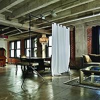 RoomDividersNow Freestanding Adjustable Room Divider Stand (7ft   50ft Wide  Options)