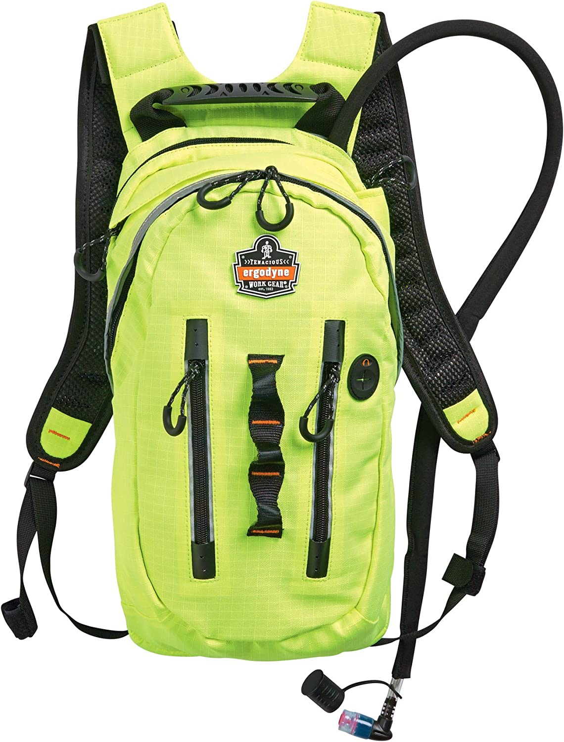 Ergodyne Chill-Its 5157 Premium Cargo High Visibility Hydration Pack, Lime