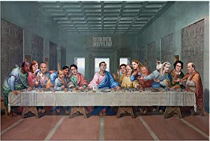 The Last Supper at Dunder Mifflin Canvas Print - The Office TV Show Wall Art Painting - Funny The Office Merchandise Decor - 8x12