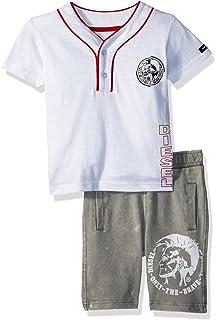 2f0a1698 Amazon.com: Diesel Dark Gray Baby Boy Printed Foiled Snowsuit: Clothing