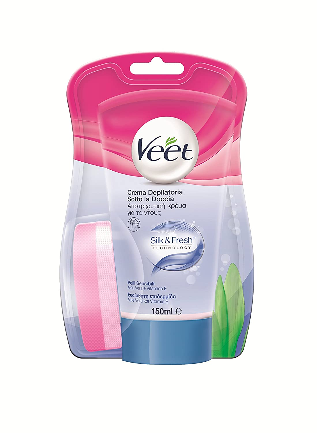 Veet - Depilatory cream in-shower sensitive skin 150 ml: Amazon.es: Alimentación y bebidas