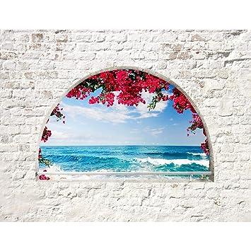Fototapete Strand Fenster 352 X 250 Cm Vlies Wand Tapete Wohnzimmer