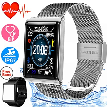 Duperym Smart Watch for Men Women IP67 Waterproof Sport Fitness Tracker with 1.5