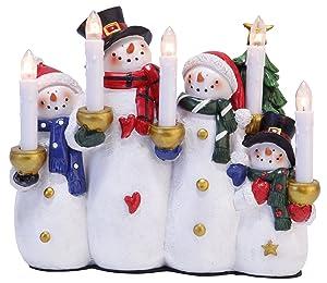 """Stella Finestra Lampadario""""Pupazzo di neve e Co"""", Scene Snowman and Friends, materia plastica, 5-fiamma, scatola a quattro colori, 22 x 25 cm 269-05"""