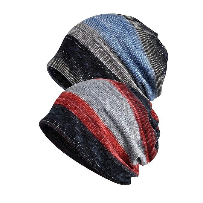 c8ecb39b2c29f Century Star Unisex Multifunction Soft Cute Slouchy Knit Beanie Hat for  Jogging