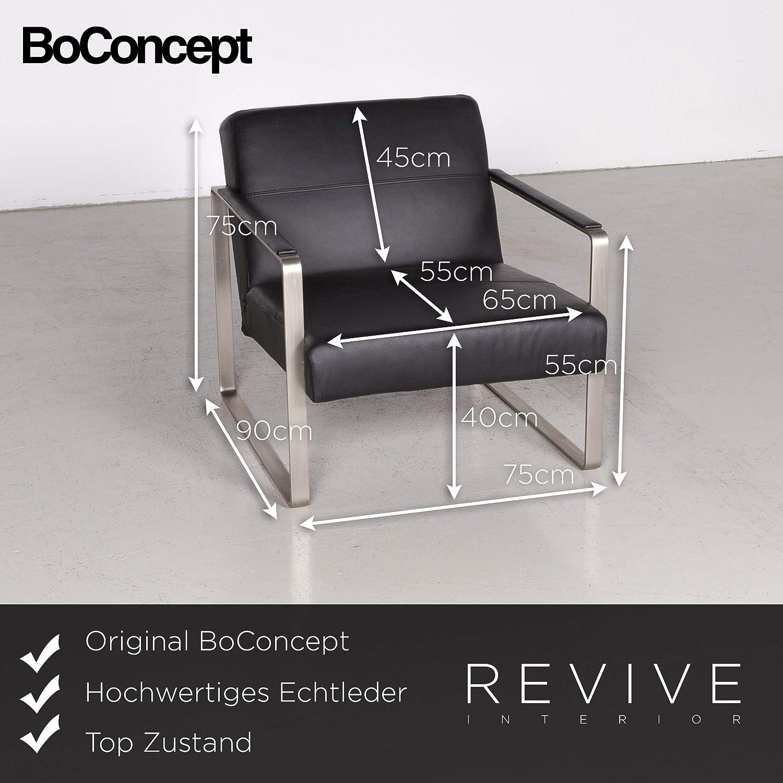 BoConcept Designer Leder Sessel Echtleder Schwarz Stuhl ...