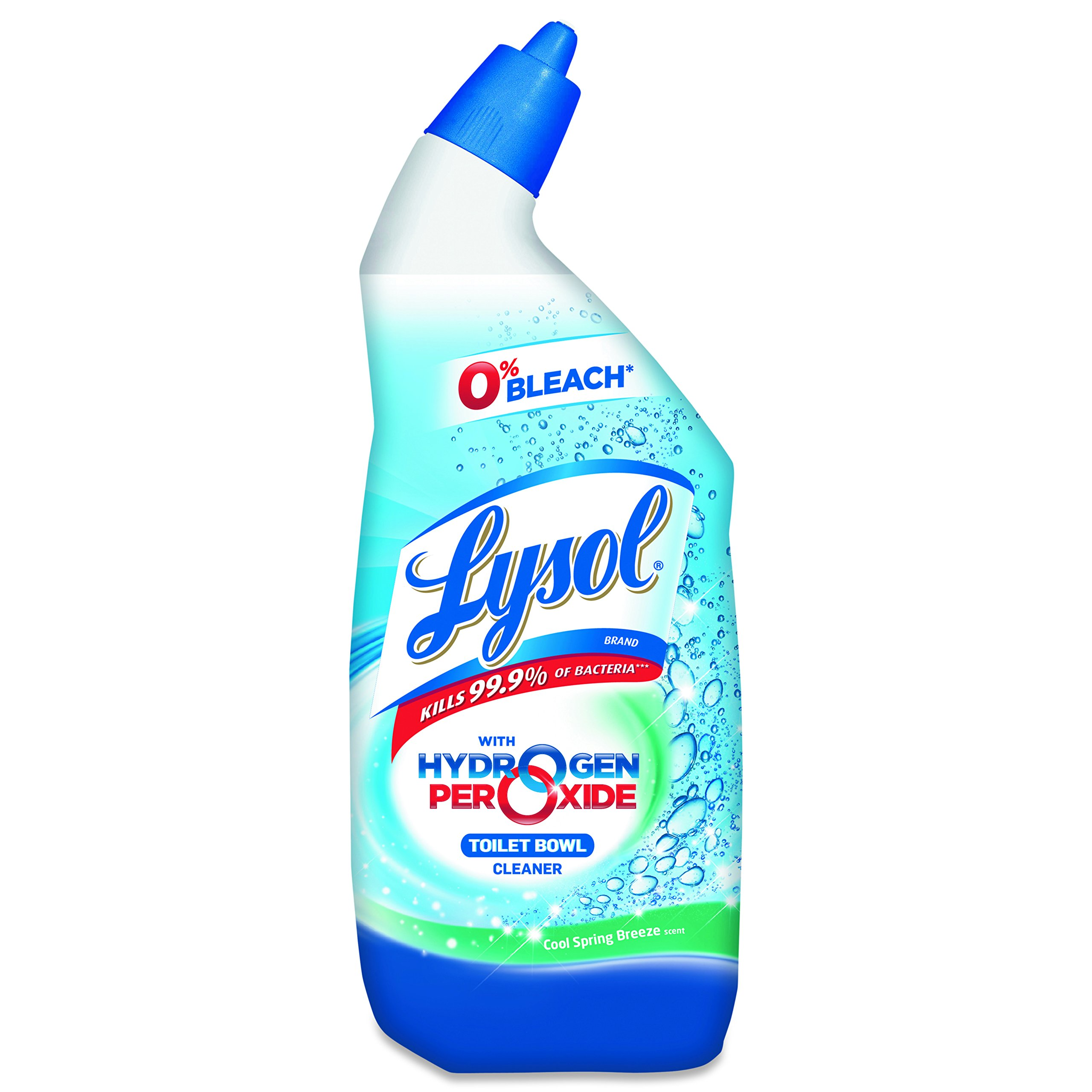 LYSOL Brand 85020CT Toilet Bowl Cleaner with Hydrogen Peroxide, 24oz Angle-Necked Bottle (Case of 12 Bottles)