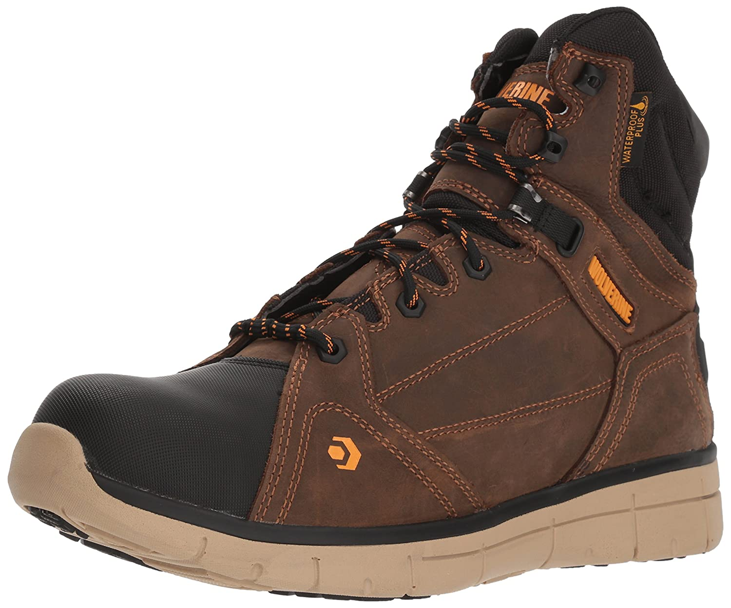 9b5ab48b9bb Wolverine Men's Rigger WPF Composite-Toe Mid Wedge Construction Boot