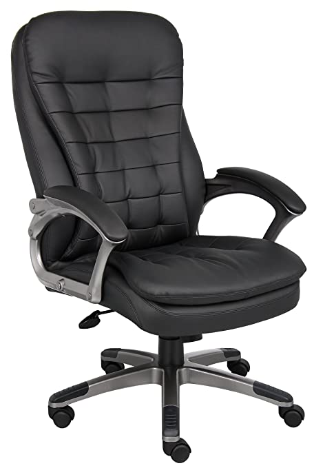 Merveilleux Boss Office Products B9331 High Back Executive Chair With Pewter Finsh In  Black