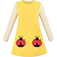 Sunny Fashion Vestido para niña Manga Larga Navidad Monigote de Nieve Fiesta Fiesta 5-12 años