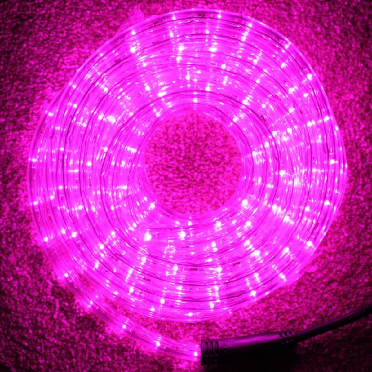10 Metre Multi Function Pink LED Rope Light Ideal for Christmas Displays UK Christmas World