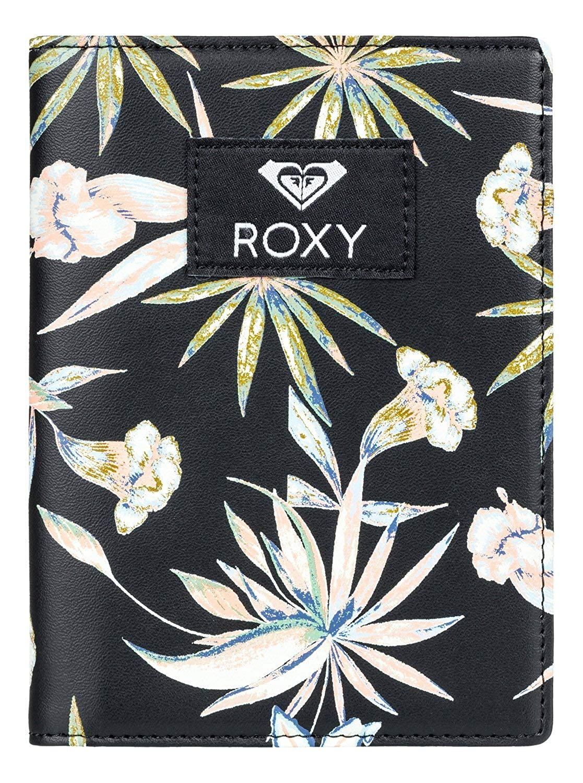 Roxy Women's Live Your Dreams Passport Case True Black Delicate Flowers One Size ERJAA03507
