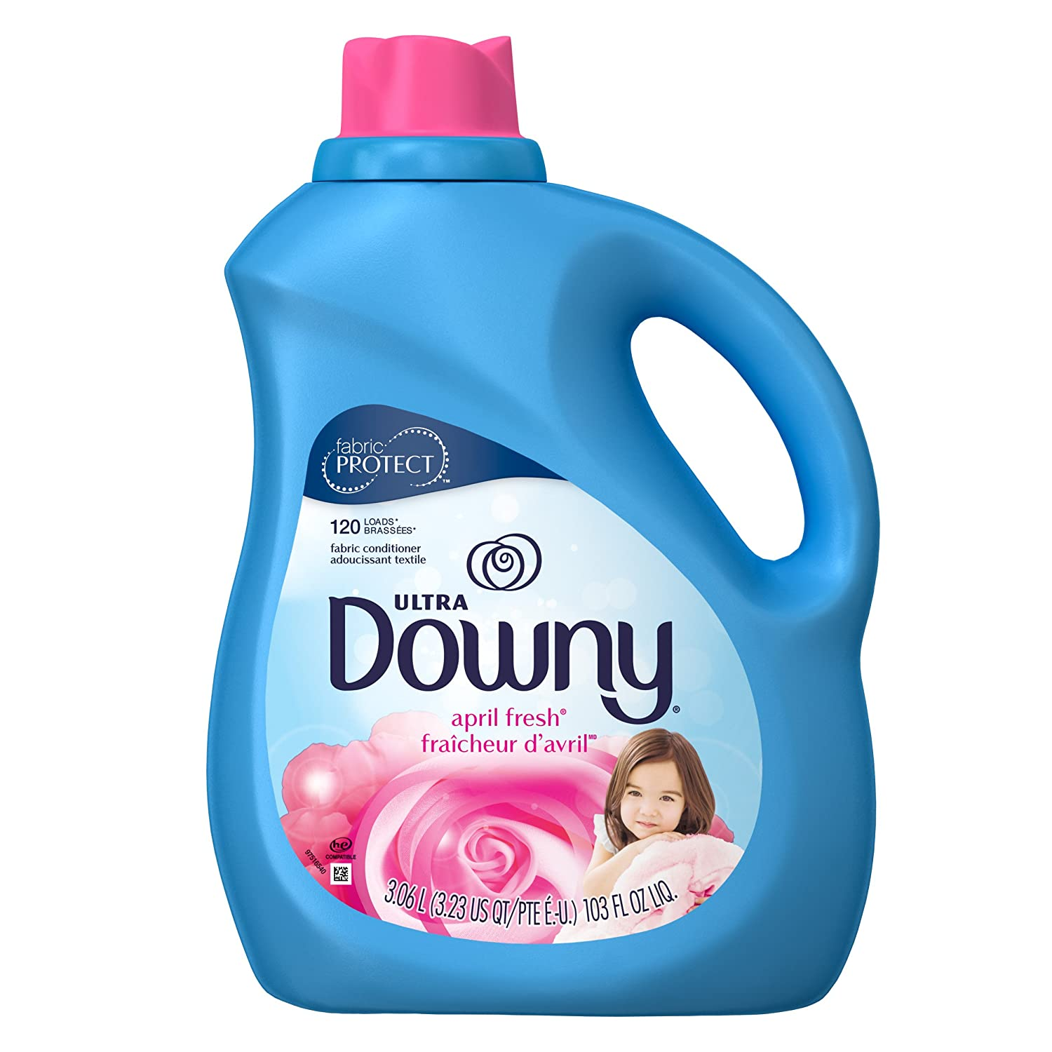 ultra downy april fresh liquid fabric softener and conditioner 103 fl oz ebay. Black Bedroom Furniture Sets. Home Design Ideas