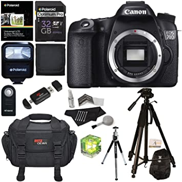 Amazoncom Canon EOS 70D 202 MP Digital SLR Camera with Dual