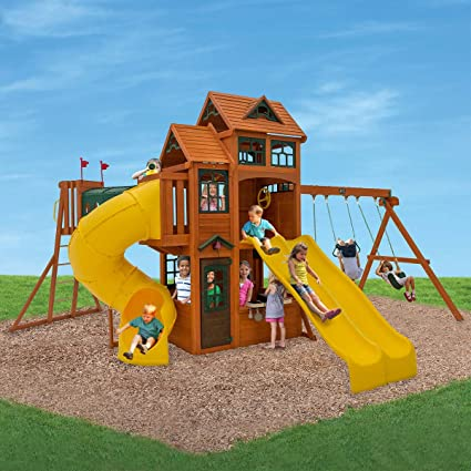 Amazon cedar summit adventure ridge playset do it yourself cedar summit adventure ridge playset do it yourself assembly required solutioingenieria Image collections