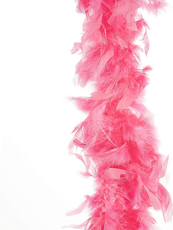 Darice 30061319 Flamingo Pink Chandelle 6 feet Feather Boa,